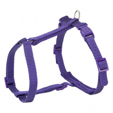 Postroj pro kočku PREMIUM, s vodítkem, 25-45cm/10mm, 1.20m, violet - DOPRODEJ