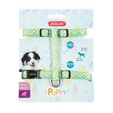 Postroj pes štěně PIXIE nastavitelný zelený 8mm Zolux