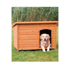 Bouda pro psa, dřevěná, rovná střecha 116x82x79cm TR