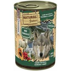 Natural Greatness jehněčí, papaya, brusinky, konzerva pro psy 400 g